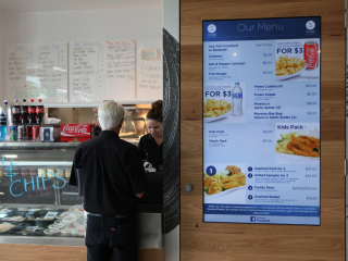 Savige's Seafood Digital Menuboards